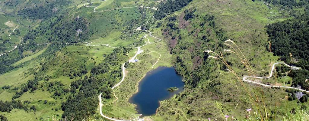 L'étang de Lers vu du sommet du Mont Béas